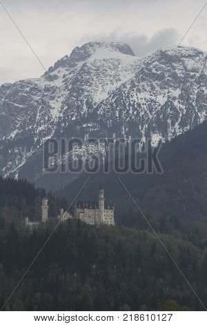 This image is a German landscape near the Alps
