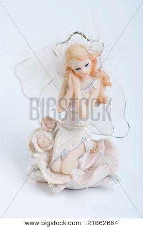 Beautiful ceramic doll on the marine theme poster