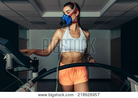 Woman Testing Her Performance In Sorts Lab