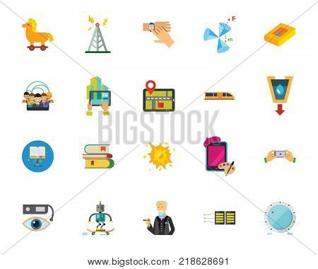 Internet of things icon set. Can be used for topics like gadget, technology, education, entertainment