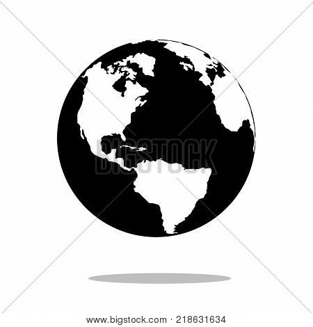 Earth globes isolated on white background. Flat planet icon design, vector illustration EPS