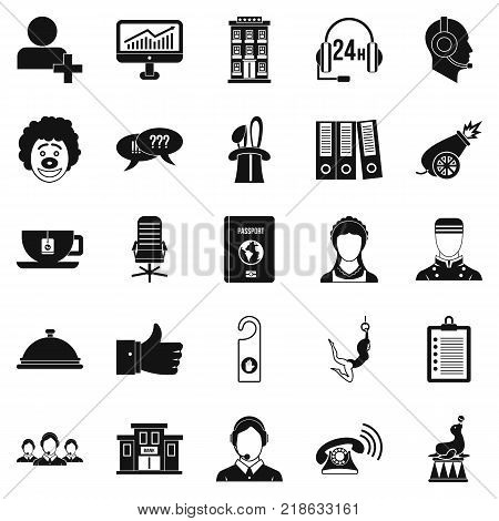 Accordance icons set. Simple set of 25 accordance vector icons for web isolated on white background