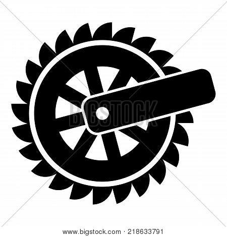 Cogwheel icon. Simple illustration of cogwheel vector icon for web