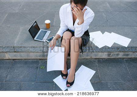 business failure loss bankruptcy crisis despair concept