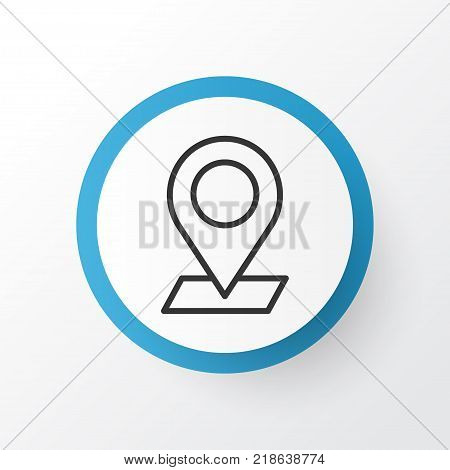 Check in icon symbol. Premium quality isolated pinpoint element in trendy style.
