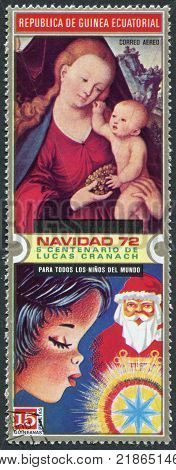 EQUATORIAL GUINEA - CIRCA 1972: A stamp printed in the Equatorial Guinea is devoted to Lucas Cranach the Elder circa 1972