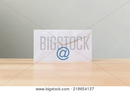 Email marketing and newsletter concept Envelope with symbol e-mail address