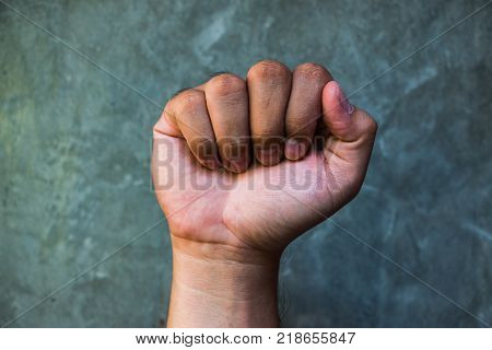 The Raised Fist Or The Clenched Fist Is A Hand Gesture Symbol Of Solidarity, Support, Salute To Expr