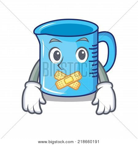 Silent measuring cup character cartoon vector illustartion