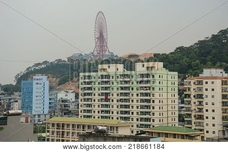 Ha Long Vietnam - May 23 2016. Modern apartments at downtown in Ha Long Vietnam. Ha Long a city on Vietnam northern coast is a jumping-off point for Ha Long Bay.