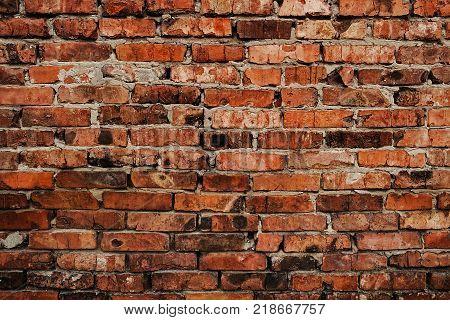 Grunge brick wall. Brown brick wall. Old brick wall. Grunge brick. Brick background. Brick texture. Firebrick. Old brickwork.