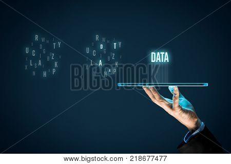 Data mining (data-mining) process and big data analysis (bigdata) issue concept.