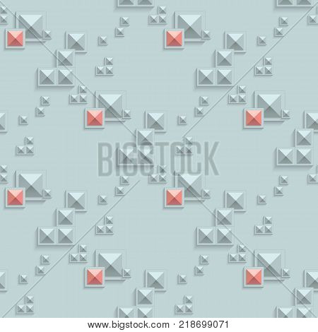 Abstract 3d illusion pattern. Geometry seamless vector illustration