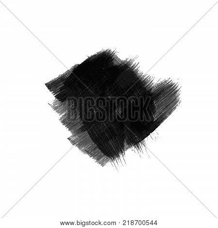 Hand Drawn Paint Brush Cross.