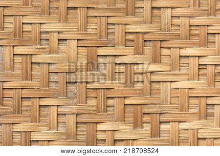 Bamboo basket weave pattern texture background. Background and texture concept