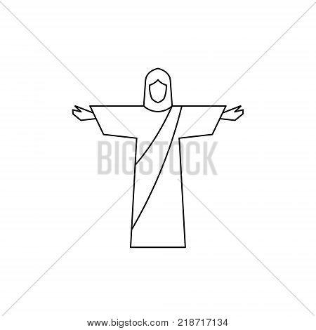 Jesus. line icon. symbol for your design, logo, UI. Vector illustration. EPS10