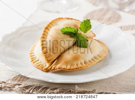 Empanadas stuffed dough pastry, typical from Spain and South America