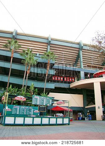 Anaheim,CA/Los Angeles. Oct 29 2016, The main entrance of Angel Stadium, a major league baseball team in Anaheim,CA.