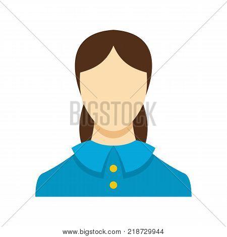 Best female avatar icon. Flat illustration of female avatar vector icon isolated on white background