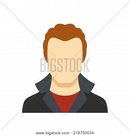 New man avatar icon. Flat illustration of man avatar vector icon isolated on white background