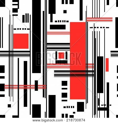 Abstract seamless pattern of geometric stripes on a light background
