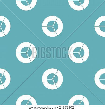 Circle diagram icon. Simple illustration of circle diagram vector icon for any web design