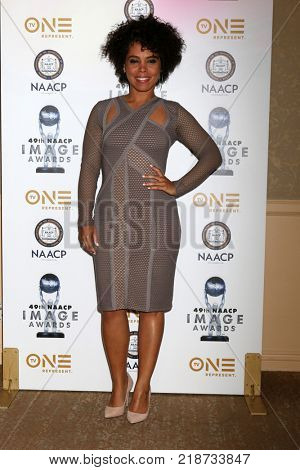 LOS ANGELES - DEC 16:  Amirah Vann at the 49th NAACP Image Awards Nominees' Luncheon at Beverly Hilton Hotel on December 16, 2017 in Beverly Hills, CA