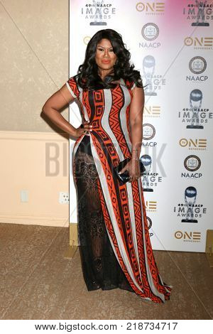 LOS ANGELES - DEC 16:  Diann Valentine at the 49th NAACP Image Awards Nominees' Luncheon at Beverly Hilton Hotel on December 16, 2017 in Beverly Hills, CA