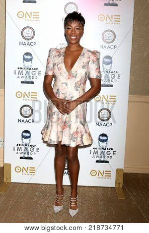 LOS ANGELES - DEC 16:  Samira Wiley at the 49th NAACP Image Awards Nominees' Luncheon at Beverly Hilton Hotel on December 16, 2017 in Beverly Hills, CA