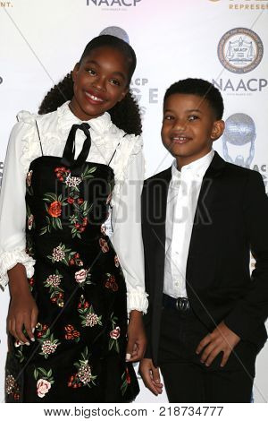 LOS ANGELES - DEC 16:  Marsai Martin, Lonnie Chavis at the 49th NAACP Image Awards Nominees' Luncheon at Beverly Hilton Hotel on December 16, 2017 in Beverly Hills, CA