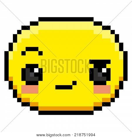 Vector Sassy Face Isolated On White Background