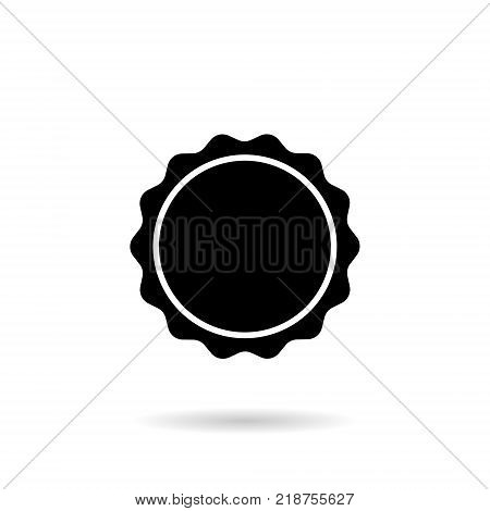 stamp printed round shape of black color on a white background. Vector