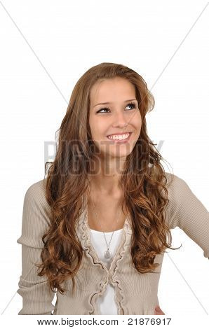 Young Woman Is Thinking Positive