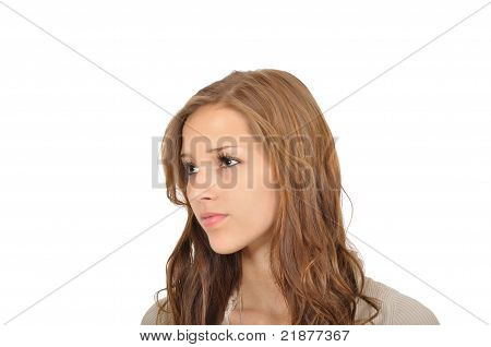 Young Woman Looking Into The Distance
