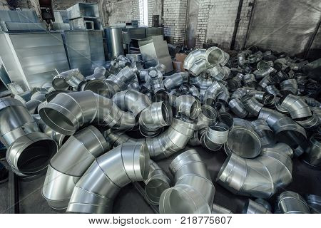 Steel pipes, parts for construction of ducts of industrial air condition system.