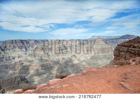 The stunning mountains at the west rim of the Grand Canyon