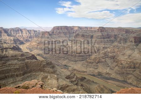 The Colorado River as seen from Guano Point in Arizona