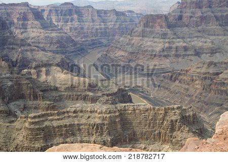 Looking at the bottom of the Grand Canyon at Guano Point