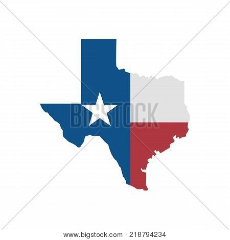 Texas Map Simple Flat Vector Photo Free Trial Bigstock