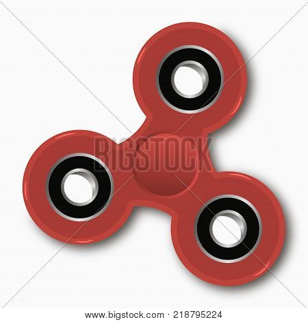 Hand spinner. Fidget toy for increased focus and stress relief. Vector illustration.