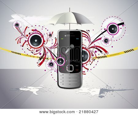 vector illustration of a cellular telephone