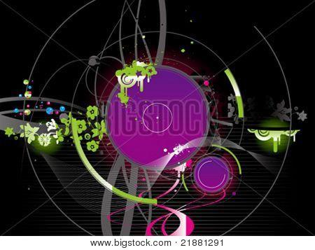 vector wallpaper, background with vinyl