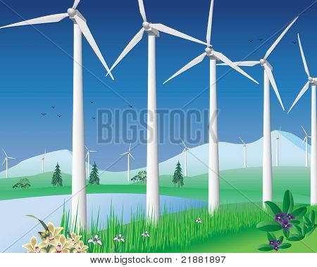 Wind turbines for clean environment