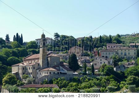 View of the village of Arqua Petrarca Padua Italy