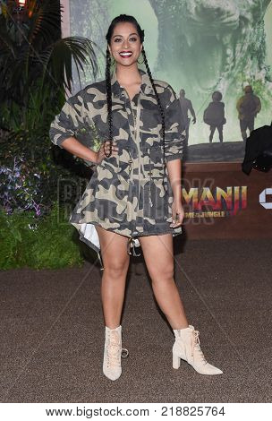 LOS ANGELES - DEC 11:  Lilly Singh arrives for the 'Jumanji: Welcome To The Jungle' Los Angeles Premiere on December 11, 2017 in Hollywood, CA