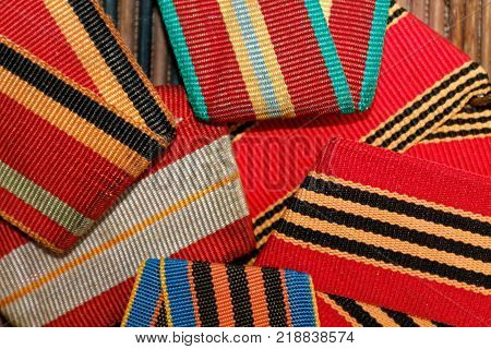 Ribbons texture macro background for web site or mobile devices