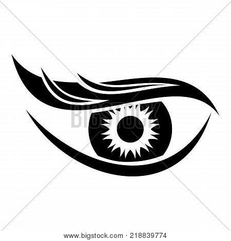 Eyesight icon. Simple illustration of eyesight vector icon for web