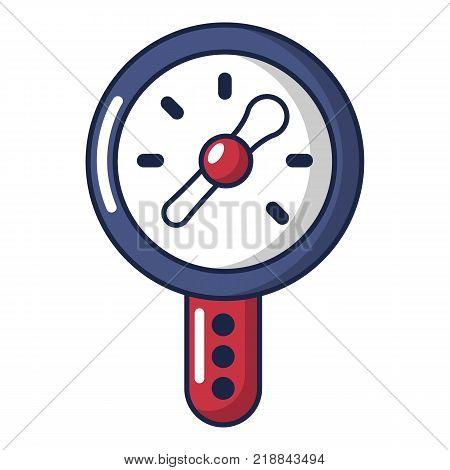 Pressure indicator icon. Cartoon illustration of pressure indicator vector icon for web