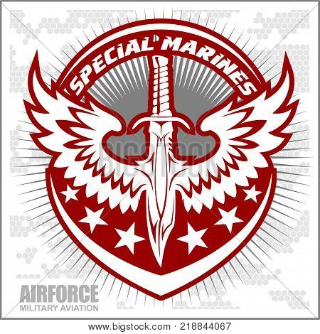 Fighter squadron airforce - military aviation - vector illustration