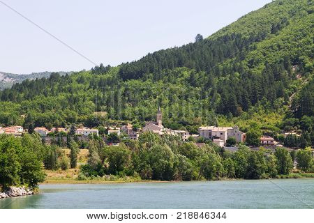 Sisteron charming medieval town in the province Alpes-de-Haute-Provence in FranceEurope